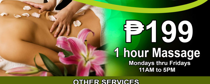 PROMO TIME: ₱199 For an Hour of Swedish Massage